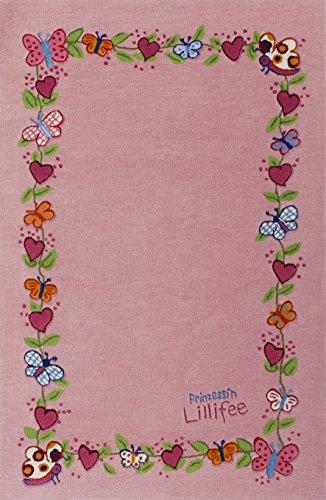Prinzessin Lillifee LI-2153-01 Teppich, 110 x 170 cm - Elefanten-rechteckiger Teppich