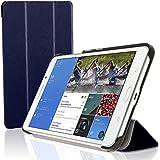 """igadgitz Azul Funda Eco Cuero para Samsung Galaxy Tab 4 7"""" SM-T230 con Supporto + Protector Pantalla"""