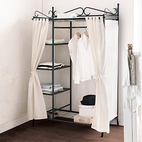 kleiderschrank metall bestseller shop f r m bel und. Black Bedroom Furniture Sets. Home Design Ideas