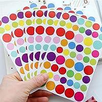 DACHENGJIN Frigorífico imán círculo patrón niños creativos DIY álbum Diario Acuarela Etiqueta engomada Decorativa