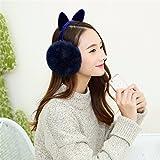 Geburtstag Festival Valentinstag Geschenk Weihnachten Women's Fashion girl Cat Ear Damen Winter weichen warmen Ohrenschützer Ohr Ohren warm Ohrenschützer Tibet Marine Tag s e