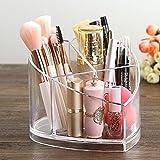 Ufamiluk Kosmetik Organizer aus Acryl, die Ideale Schminkaufbewahrung,Aufbewahrungsbox mit 3 Fächern für Make-up, Kunststoff Herz Aufbewahrung für Nagellack und Beautyprodukte