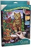 Mammut 110018 - Malen nach Zahlen Classic Collection - Katze, ca. 22,8 x 30,4 cm