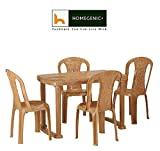 Nilkamal Dining Table Set 1+4 (Pear Wood) By Homegenic