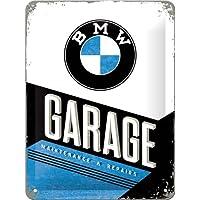 Nostalgic-Art 26212BMW Garage, Cartel de Chapa, 15x 20cm
