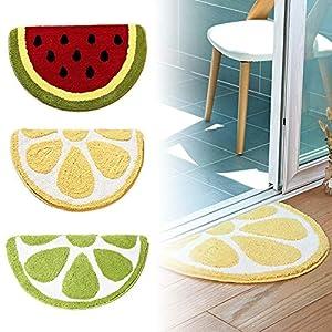 SH-Flying Cartoon Rutschfeste Matten, Wassermelonenmatten Wohnzimmer Schlafzimmer Badezimmer Anti-Rutsch-Teppich Innovative Küche Badezimmer Matten Outdoor-Matten Indoor-Fußmatten