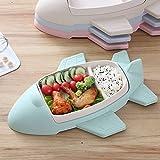Kuke Kinderschüssel Bambus, Flugzeugmodellierung Kinderteller Baby BPA frei Rutschfest Kuchenteller Snackschale (Grün)