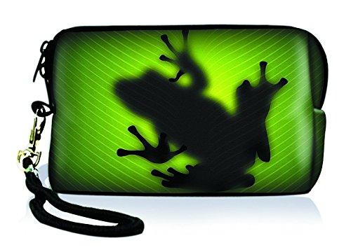 Silent Monsters 1005002006 Neopren Universal Kameratasche für Kompaktkamera grün frog