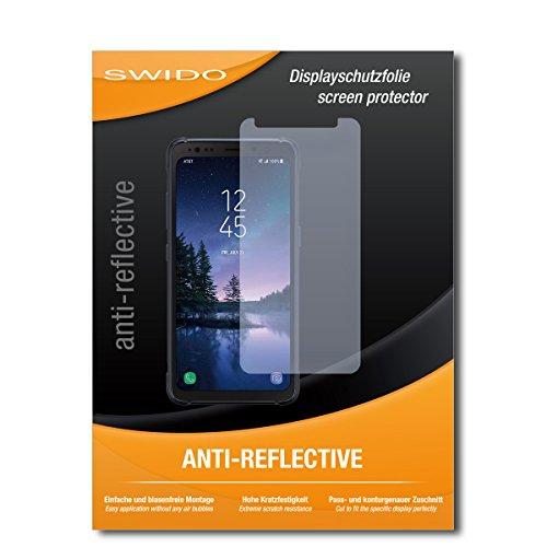SWIDO Schutzfolie für Samsung Galaxy S8 Active [2 Stück] Anti-Reflex MATT Entspiegelnd, Hoher Härtegrad, Schutz vor Kratzer/Bildschirmschutz, Bildschirmschutzfolie, Panzerglas-Folie