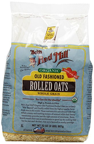 Bob's Red Mill Organic Oats Rolled Regular, 32-Ounce by Bob's Red Mill