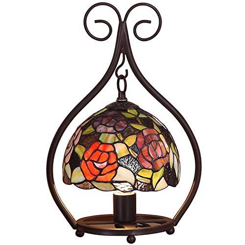 YDYG Lámpara de sobremesa Estilo Tiffany Lámpara de Noche en el Dormitorio...