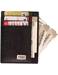 Printelligent Codi Leather Visiting Card Holder For Keeping Business Cards, Debit Cards, Credit Card - (Black)