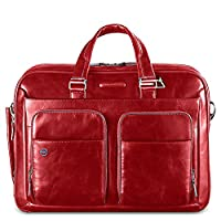 Piquadro Portfolio Computer Briefcase with iPad Compartment, Red, One Size