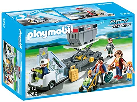 Playmobil 5262 City Action Airport Aircraft Stairs with Passengers and