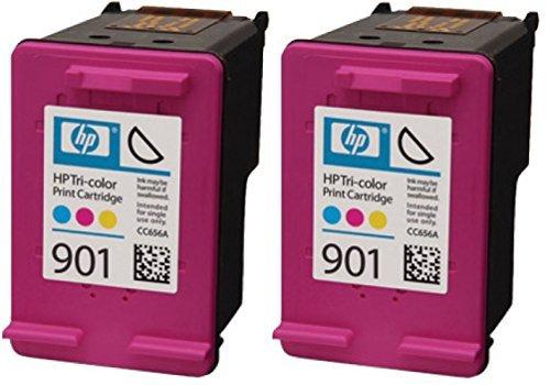 HP 901Original Tintenpatronen Farbe in Folie Verpackung (Pack von 2)