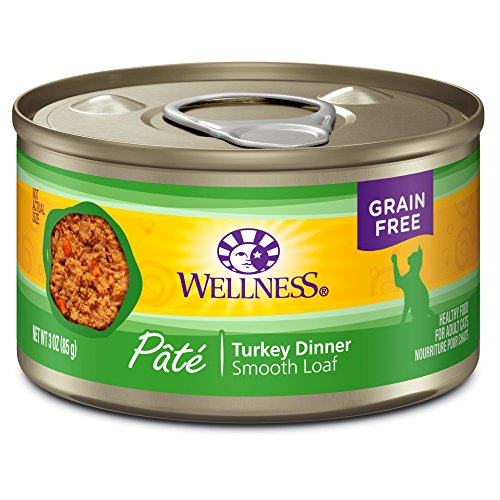 Wellness Complete Health Natural Canned Grain Free Wet Cat Food, Turkey Pate, 3-Ounce Can by Wellness Natural Pet Food