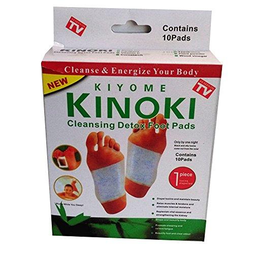 Original Kinoki Detox pie de almohadillas - Vital yeso para los pies de fútbol con diseño de 5er=Pack de ahorro 50 almohadillas - As seen on TV!