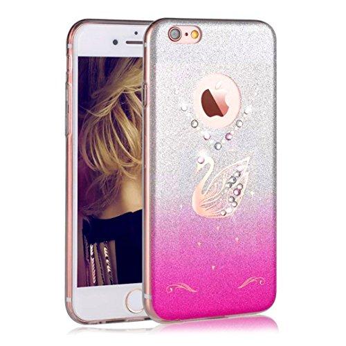 iPhone 6S Plus Custodia, Sunroyal® UltraSlim Bling Soft Mat TPU Silicone Case Cover Morbido Protettiva Cassa Cristallo Diamonte Cigno Back Cover Bumper per Apple iPhone 6s Plus iPhone 6 Plus( 5.5