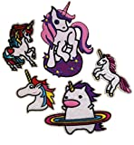 i-Patch Patches - 0056 - Pferd - Einhorn - Stute - Fohlen - Pferdekopf - Pferde - Einhörner - Hufeisen - Reiten - Applikation - Aufbügler - Flicken - Aufnäher - Sticker - Badges - Flicken - Bügelbild