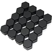 20x Universal Silicone Wheel Lug Nut Bolt Cover Protect Tyre Screw Cap Antirust 19MM(Black)