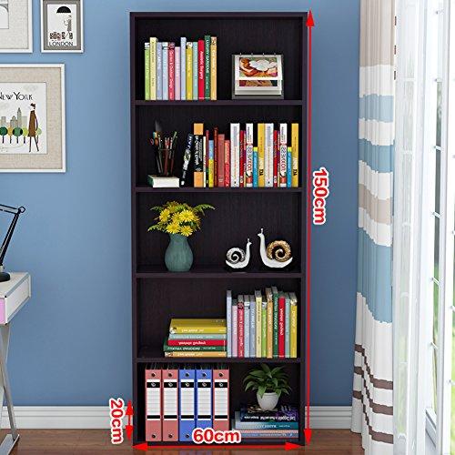 JX&BOOS Bücherregal,Minimalistische Moderne Kreative Bücherregal Regale Böden tehend Desktop...