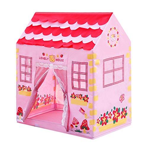 Kinder Tepee / Spielhaus / Spielzelt für Baby Mädchen & Jungen Kleinkind, Prinzessin Stadt Haus, Kinder Geheimen Garten Rosa Schönes Spielhaus, Indoor Outdoor Klappbar, Spielzeug Geschenke für Kinder. (Prinzessin Kleinkind-zelt)