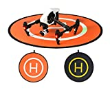 Owoda PGY Double-side Portable Helicopter Landing Pad 43.3inch Large Launch Pad for DJI Phantom Inspire Series Drone and Other Professional RC Quadcopter