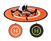 Owoda PGY Double-side Portable Helicopter Landing Pad 43.3inch Large Launch Pad for DJI Phantom Inspire Series Drone and Other Professional RC Quadcopter from Owoda