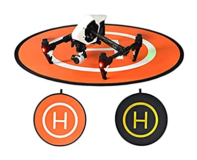 Owoda PGY Double-side Portable Helicopter Landing Pad 43.3inch Large Launch Pad for DJI Phantom Inspire Series Drone and Other Professional RC Quadcopter by Owoda