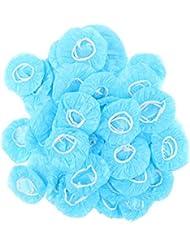 B Baosity 100er Einweg Durchsichtige Dusche Ohr Abdeckung Geh/örschutz Blau