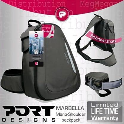 Port Designs Marbella ligero SLR/DSLR cámara + lente Kit giratorio de fácil acceso COMPACTA mochila (para uso con todas las marcas incluye: Canon, Panasonic, Nikon, Fujifilm, Sony, GE, Samsung y Olympus)