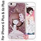 Best Iphone 6 Plus Case Luxuries - KC Appealing Girl Case with Liquid Sparkle Transparent Review