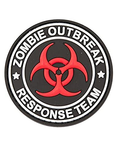 Zombie Out Break en caoutchouc PVC badge militaire Patch Velcro Dos TRF