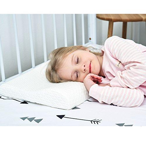 Gesundheit Kinder Kissen für Bett Schlafen Hypoallergenic Memory Schaum kinderkissen Neck-Protector für Kinder (3-10 Jahre)