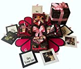 #6: Crack of Dawn Crafts 3 Layered Romantic Heart Explosion Box - Pink Love
