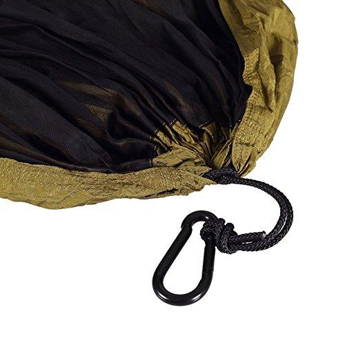 OneTigris Camping Hängematte mit Moskitonetz (inkl. Karabiner und Seile) Belastbarkeit 200kg - 3