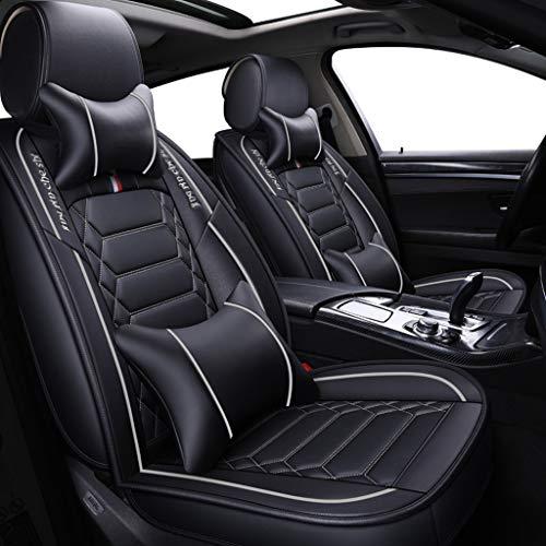 ug, Vorne und Hinten 5-sitziges Set Universal Leder Seasons Protectors Pad Kompatibler Airbag mit Kissen. (Farbe : Weiß) ()