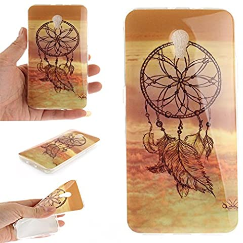 For ZTE Blade V7 Case Cover, Ecoway TPU Clear Soft Silicone Back Colorful Printed Pattern Silicone Case Protective Cover Cell Phone Case for ZTE Blade V7 - Dreamcatcher