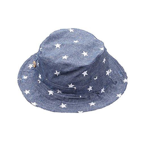 Leisial Sombrero Pescador Para Bebé Niños Algodón de Protectora del Sol  Gorro de Alas Anchas Proteger 92582a10ff8a