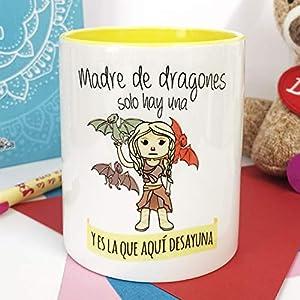 La Mente es Maravillosa - Taza con Frase y dibujo. Regalo original y gracioso (Madre de dragones solo hay una y es la… 8