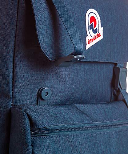 Invicta Zaino Jolly Solid S Zaino Casual, 33 cm, 15 litri, Blu