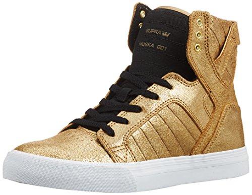 Supra - Skytop, Pantofole Unisex – Bambini Gold (Gold / Black - White)