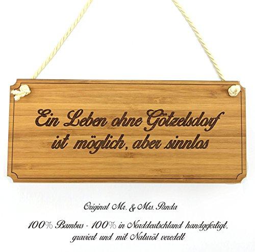 Mr. & Mrs. Panda Türschild Stadt Götzelsdorf Classic Schild - Gravur,Graviert Türschild,Tür Schild,Schild, Fan, Fanartikel, Souvenir, Andenken, Fanclub, Stadt, Mitbringsel