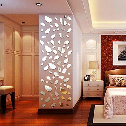 12 unds pegatina vinilo espejo decoracion moderna para dormitorios salon cuartos de OPEN BUY