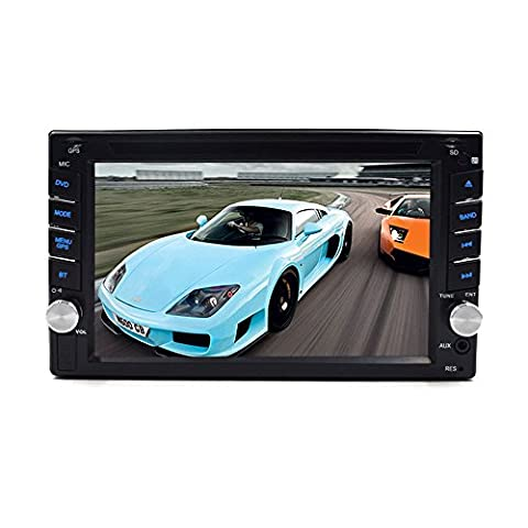 15,7cm Doppel DIN GPS Auto Stereo mit SD KFZ GPS-Karte Karte Win 6UI Head Unit HD Touchscreen In dash Car DVD-Player unterstützt Autoradio Bluetooth USB/SD Auto Audio Multimedia-System von