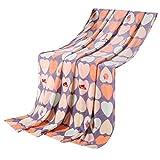 Love Heart Shaped Baby-Klimaanlage Coral Carpet Infant Handtuch Decke