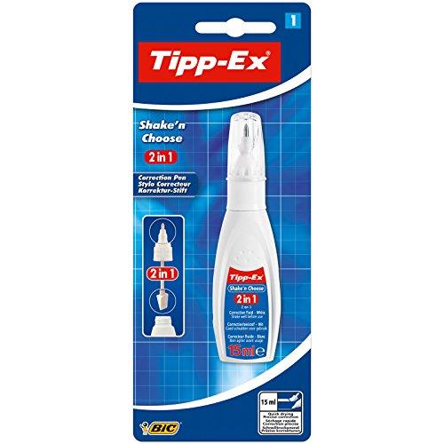 Tipp-Ex Korrekturstift Shake\'n Choose 2-in-1, 15 ml, Blister 1 Stück, weiß