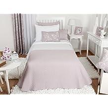 Tiendas Mi Casa - Colcha ESPIGA Blanca, disponible en varios tamaños (Cama de 105 cm.)