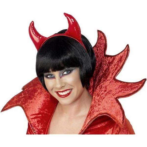 Red PVC Devil Horns On Headband