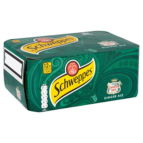 Schweppes Canada Dry Ginger Ale 12 x 150ml - Mixgetränk mit Ginger (Ingwer)